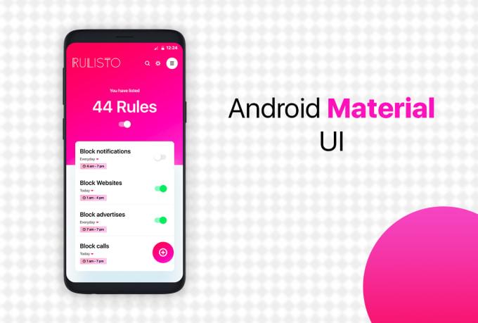 do android material ui app design