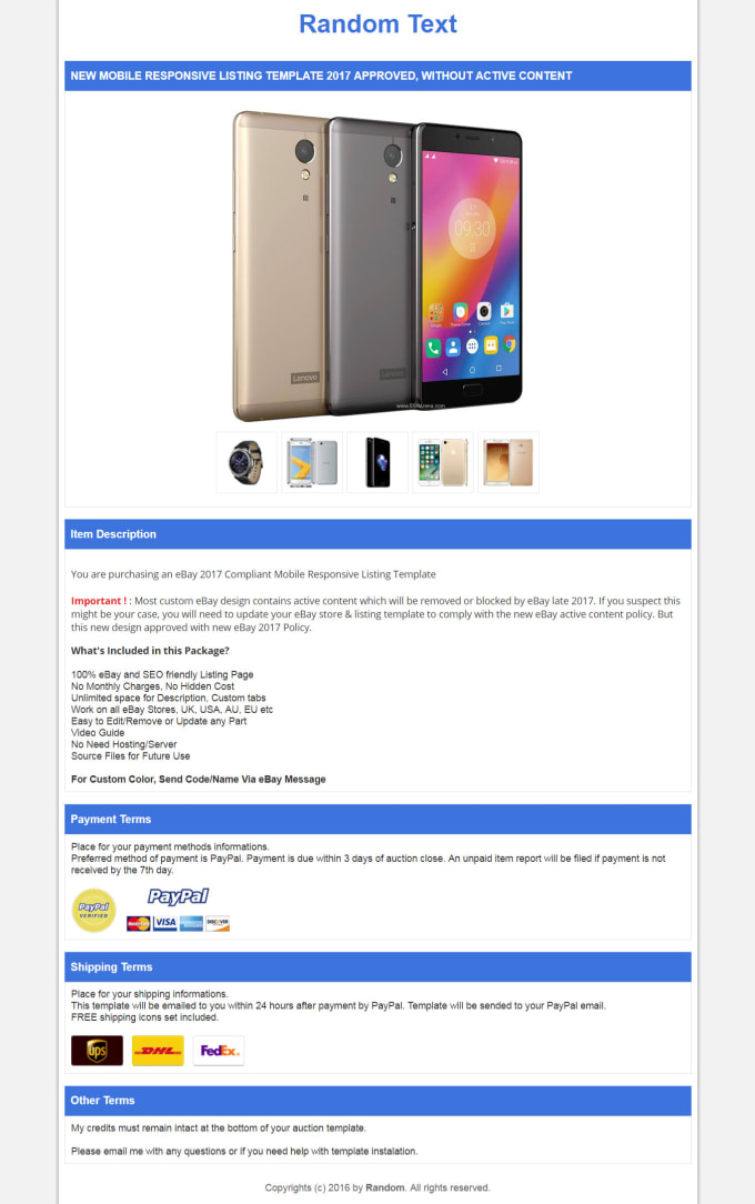 5975f86896 I will provide ebay template mobile responsive professional. Increase your  sales ...