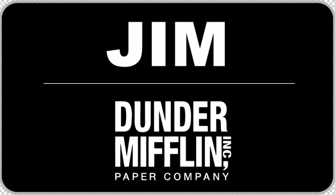 picture about Dunder Mifflin Name Tag Printable titled mpressionable : I will deliver your personalized track record tag for particular person or place of work for $10 upon