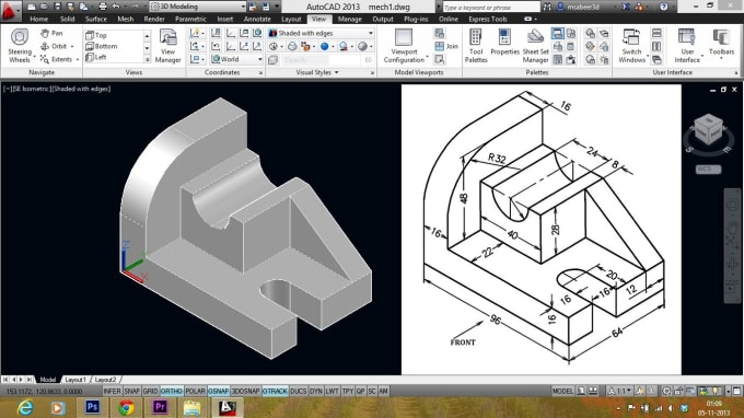 afridi312 : I will do 2d and 3d drawing in autocad and solidworks for $15  on www fiverr com
