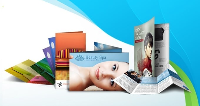 design company profile, brochure, and flyers