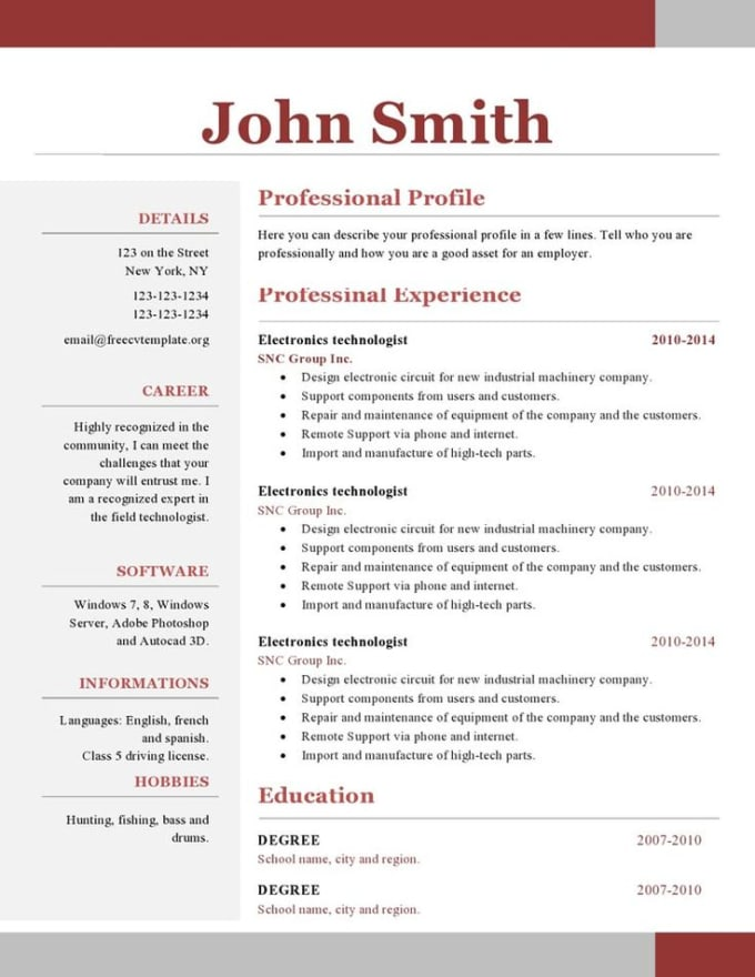 Create A Nice Resume Or Cover Letter For You By Andwill212