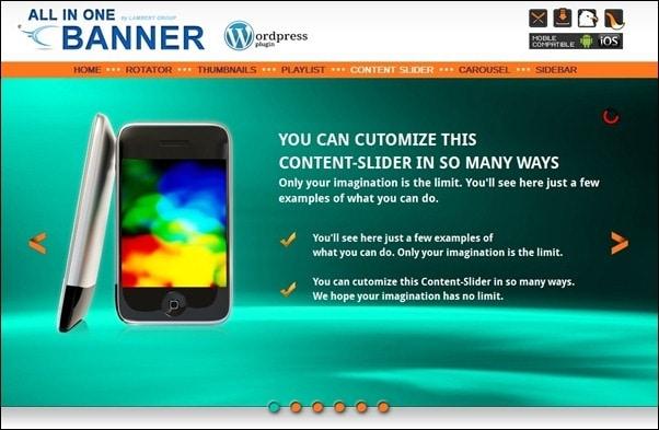 design revolution or website slider