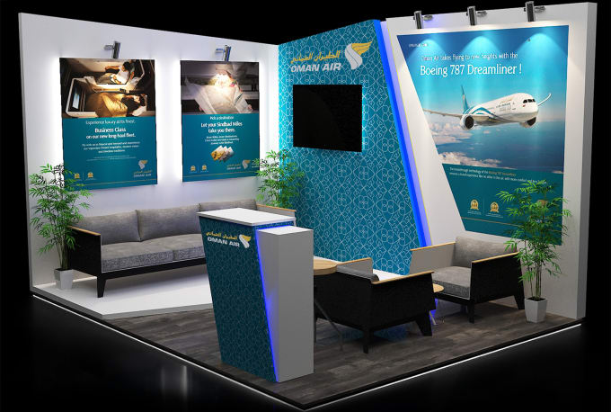 Exhibition Stall Posters : Design elegant exhibition stall by nihaalyamin