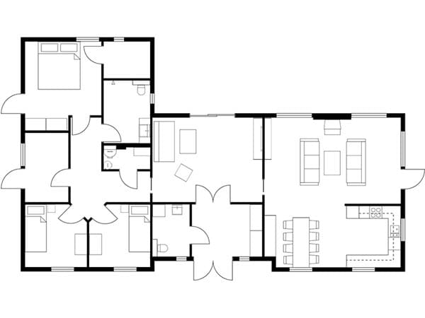 floor plan architecture with autocad