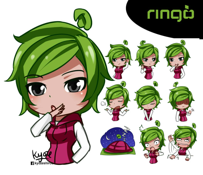 Draw Original Character To Emoticon By Kyoze1986