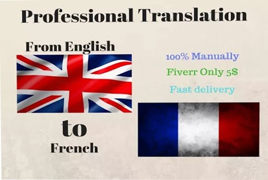 translate english language essays article and paragraph into french