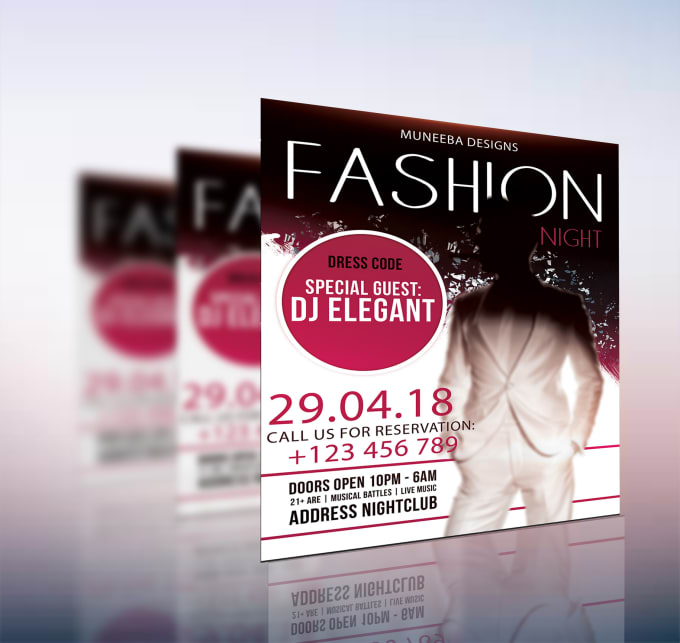 create any attractive event flyers poster in 12 hours by muneebanaseer44