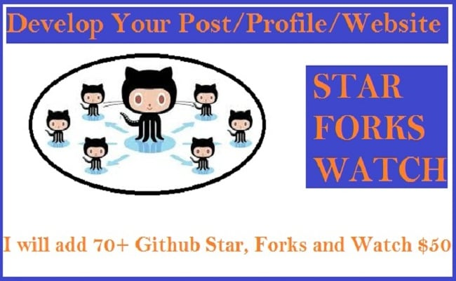 manage 8 github star and forks with watch