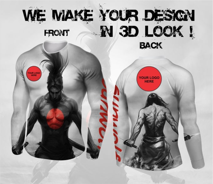 make your company design with 3d rash guard