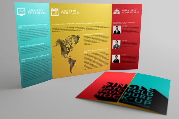 design double sided tri fold z fold and gate fold brochure