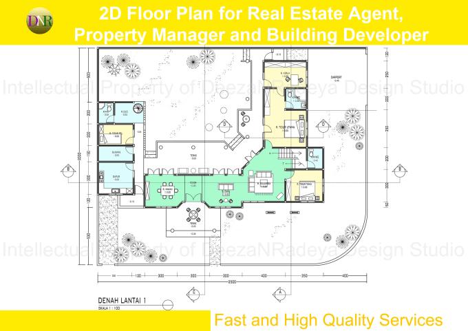 2d floor plan for real estate, property