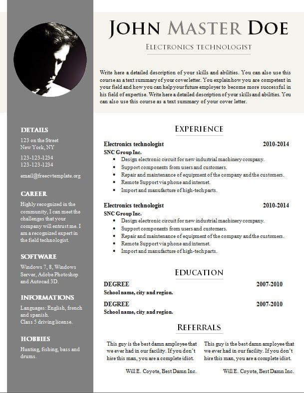 Reume Cv Writing Or Cover Letter