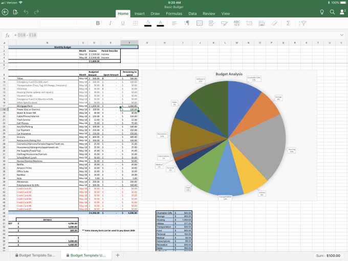 create a personal budget for you in excel by shellyltaylor