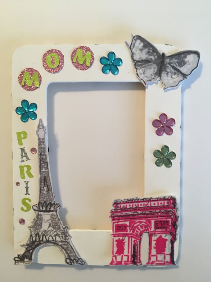 Customize a paris theme picture frame by Anitatillery