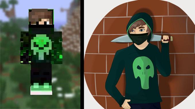 Draw Your Minecraft Avatar By Gamsha
