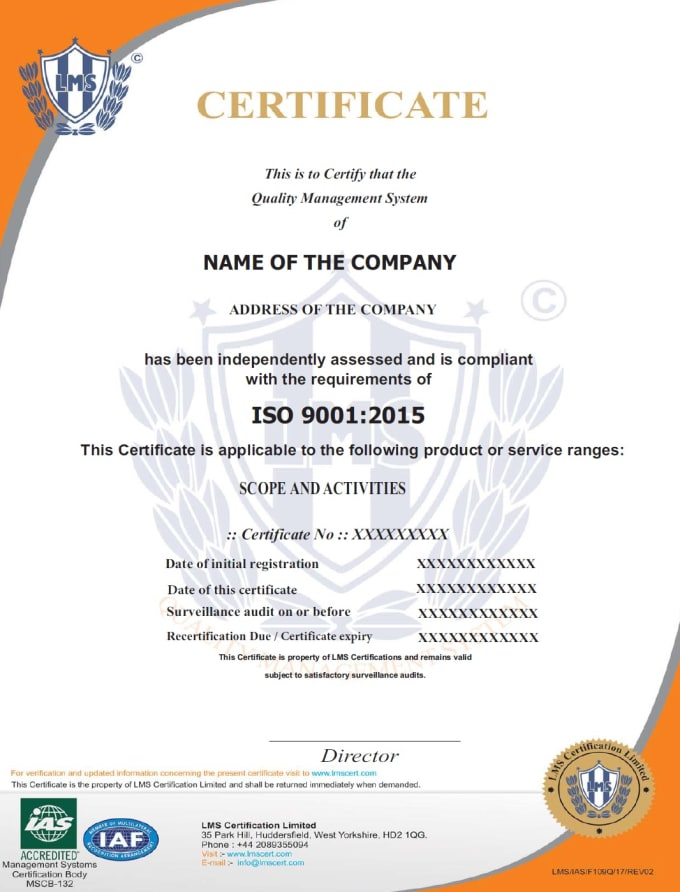 Help You In Getting Iso Certification For Your Organization By