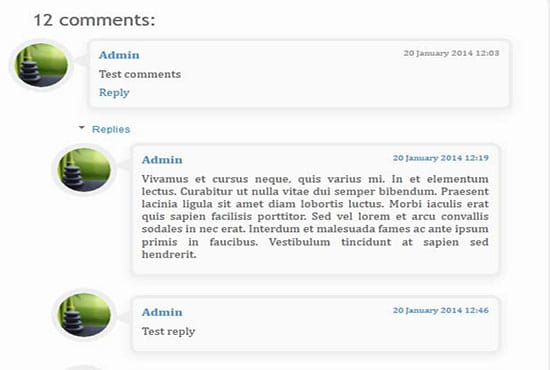 Customize comments template in wordpress by Htmlmarkup