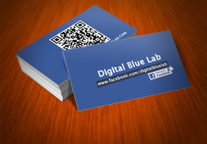 create this cool facebook business card with qr code for your