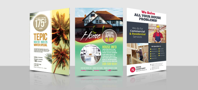 create real estate flyer corporate flyer business flyer sales or