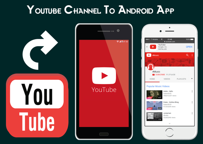 How to make a youtube channel mobile phone