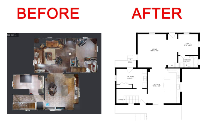 Create floor plan by matterport link by