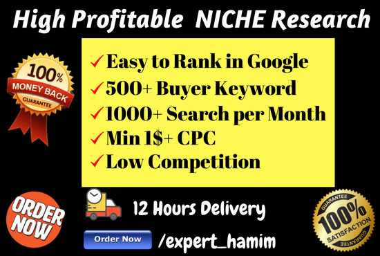 research highly profitable niche with keyword and domain name suggestions