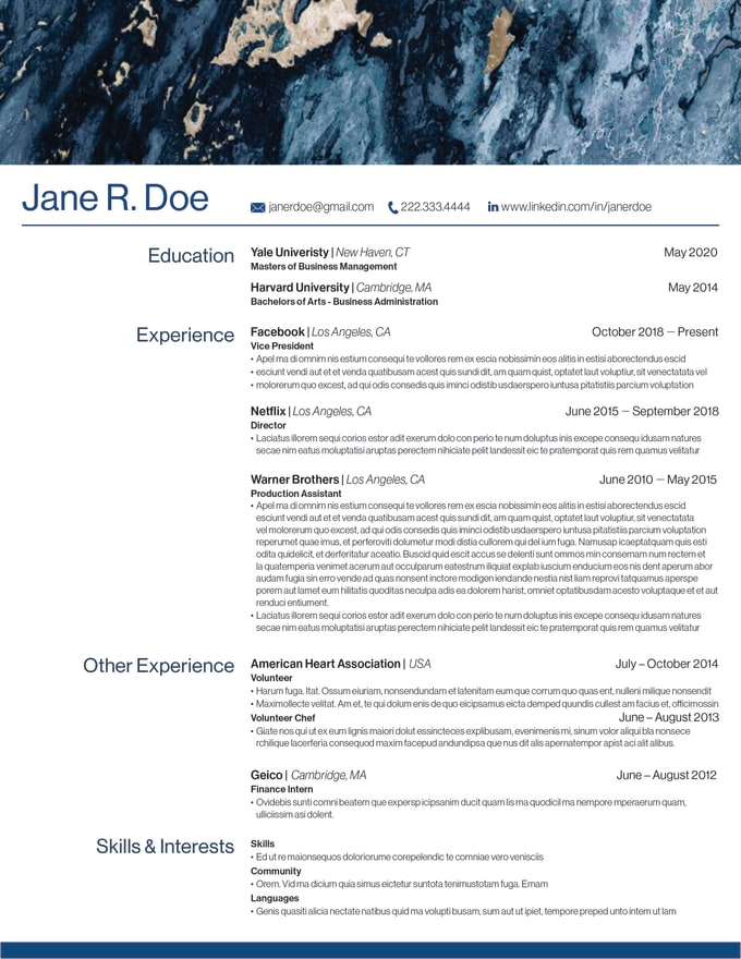 design your resume  cv  or personal branding materials by