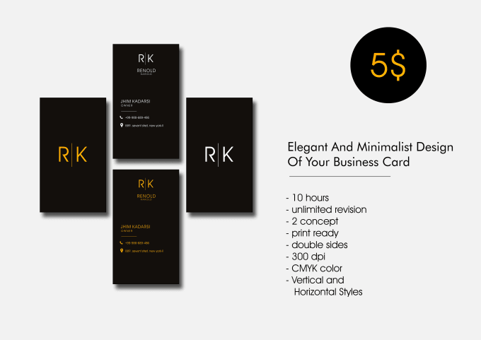 Design minimalist business card less than 12 hour by asrorigraphic99 design minimalist business card less than 12 hour reheart Gallery