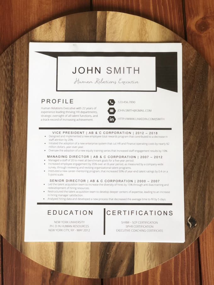 rewrite and design an eye catching resume and cover letter