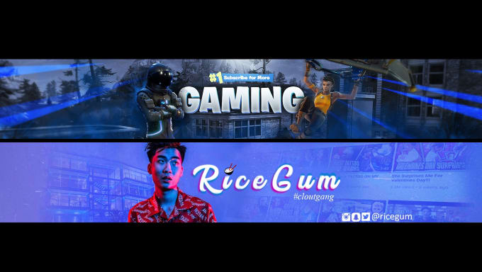 youtubersedits : I will make youtube banner in photoshop, twitter,facebook  header for $10 on www fiverr com