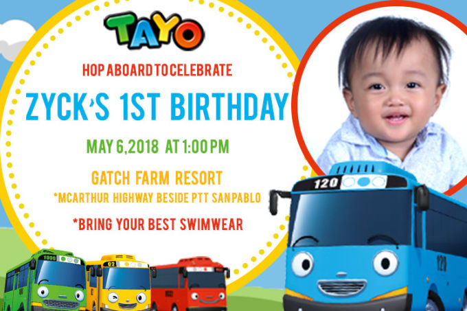 kids birthday invitation layout by pauange87