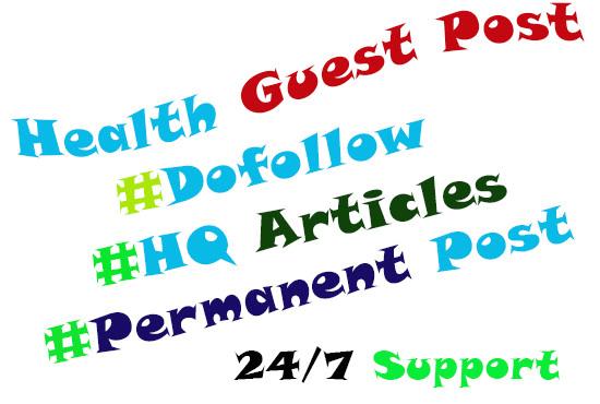 do guest post on high trust follow medical niche