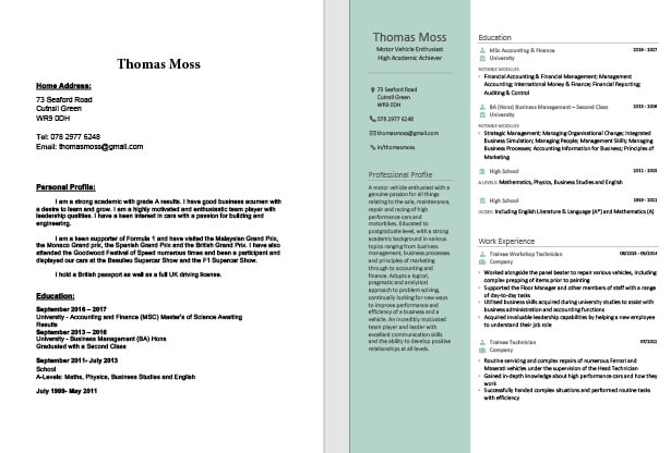 Milesmblizzard I Will Make Your Cv Or Resume Stand Out For 5 On Www Fiverr Com