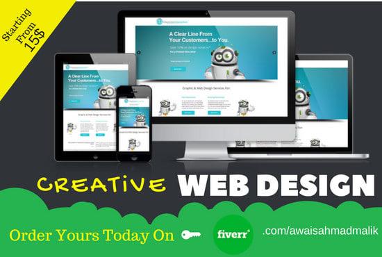 design creative bootstrap theme or bootstrap website