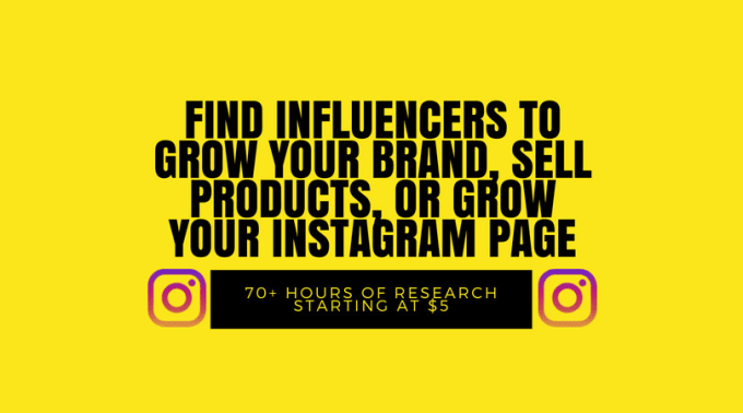 provide a list of instagram influencers