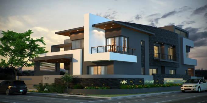 Do 3d revit architecture and lumion 8 rendering by the - Revit exterior rendering settings ...