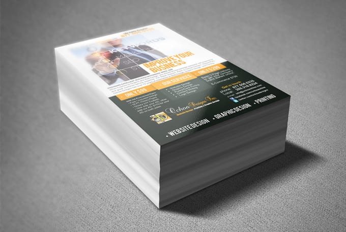 design and print up to 500 marketing flyers by gagirlsells