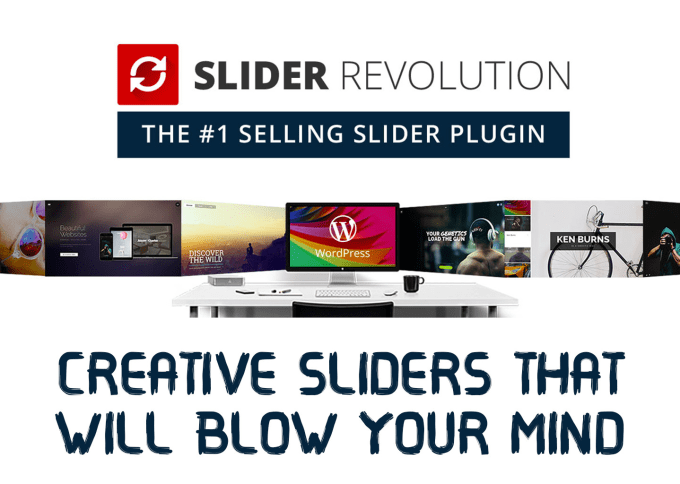 create awesome revolution sliders for your wordpress website