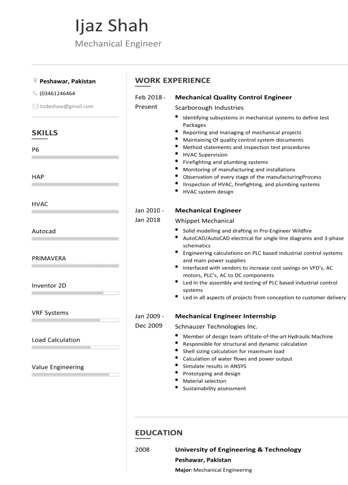Make a cv, resume and cover letter by Ijazshaw786