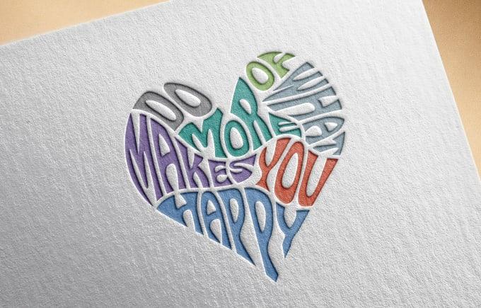 Design An Amazing Word Art In A Heart Shape