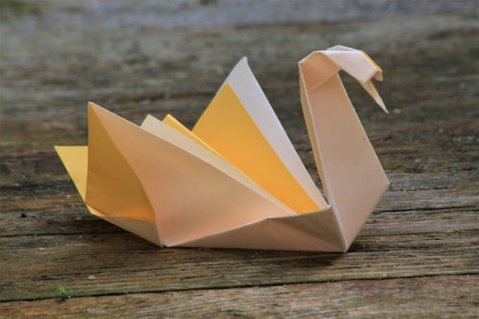 Fold And Send Origami Swans For Wedding Gifts By Onepaperfold