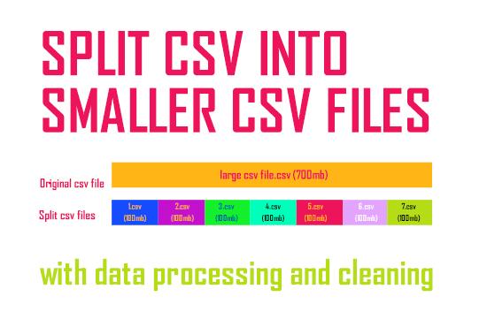 split CSV into small csv files