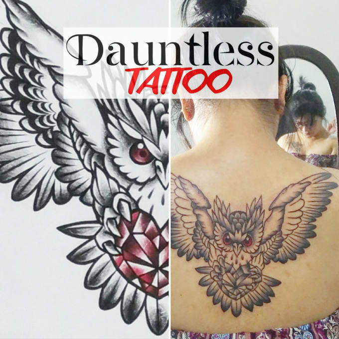 Create authentic and highly detailed tattoo design by Dauntlesstattoo