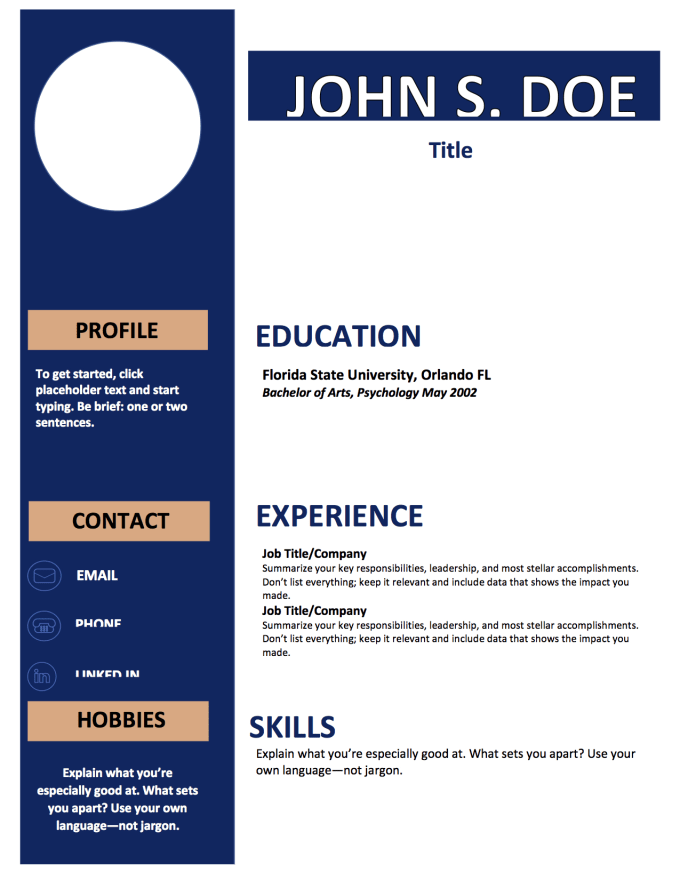 Help With Resume And CV Building