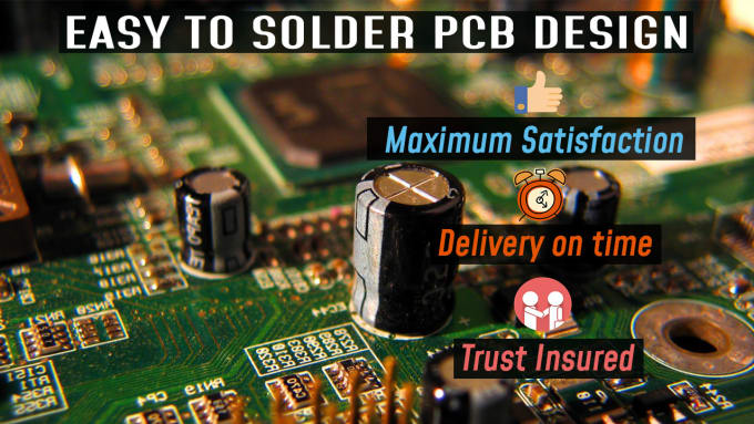 Design your pcb board with easy to solder arrangement by Sohaib_hsn