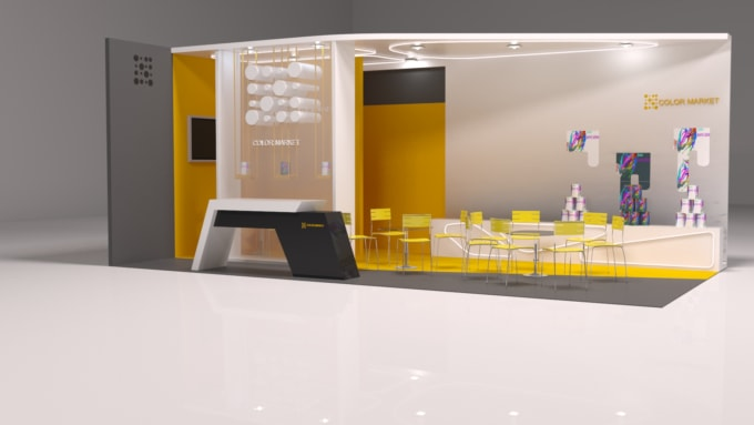 3d Exhibition Model : Do d exhibition booth modeling by themuddasir
