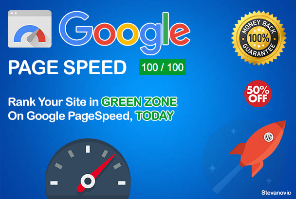 Speed up your wordpress site in 24h, 50 percent off by Steva