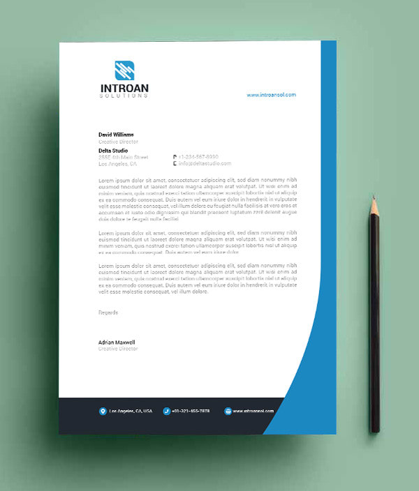 design a elegant creative cover letter and resume