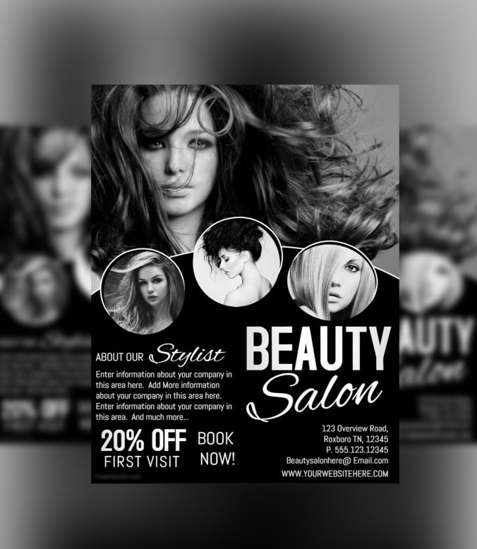 Design any flyer poster, beauty salon poster by Babar5806